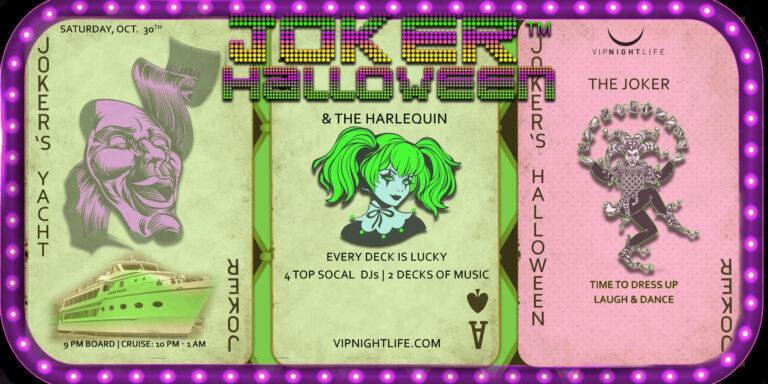 Joker LA Halloween Party Cruise