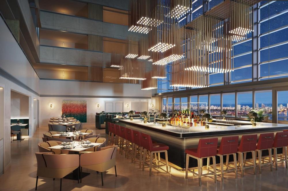 Level 25 Bar at Conrad Miami