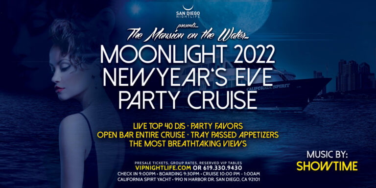 San Diego Pier Pressure Moonlight New Year's Eve Party Cruise 2021