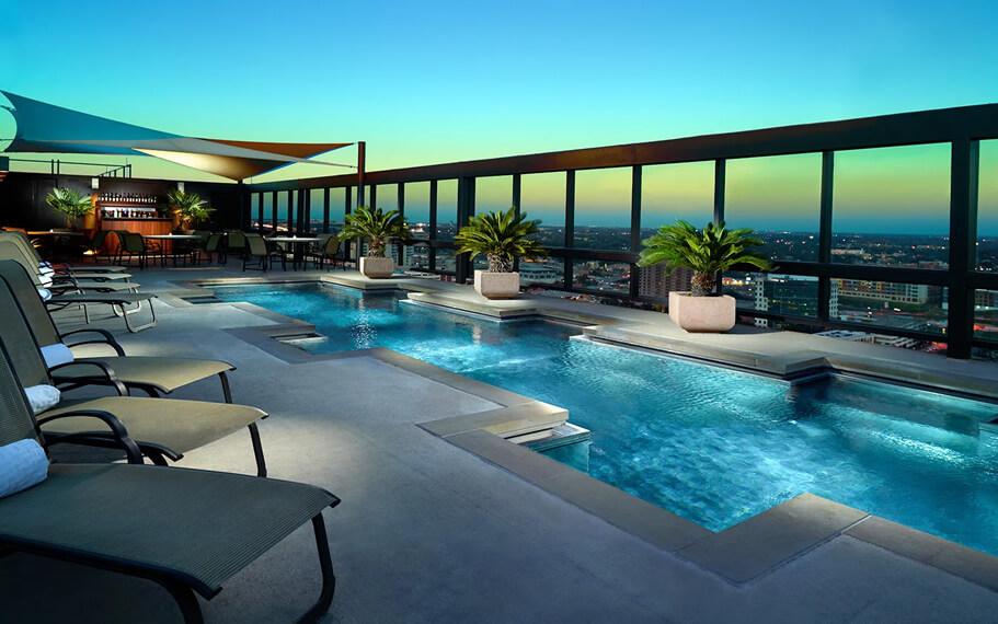 Omni Austin Hotel Rooftop Pool