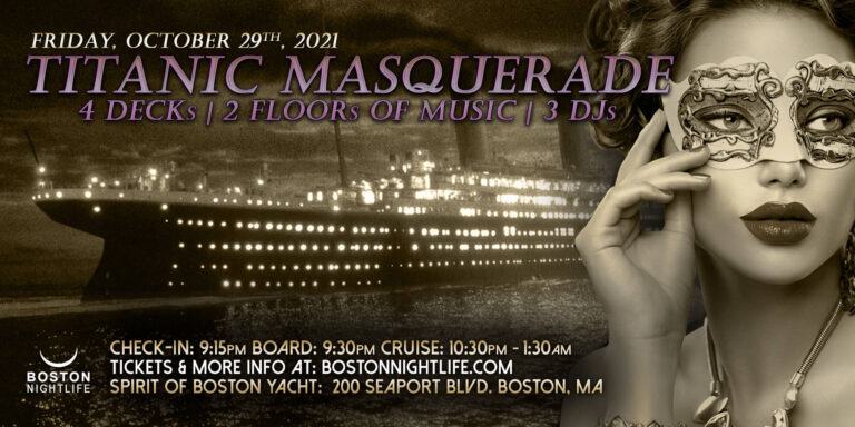 Titanic Masquerade Boston Halloween Cruise 2021