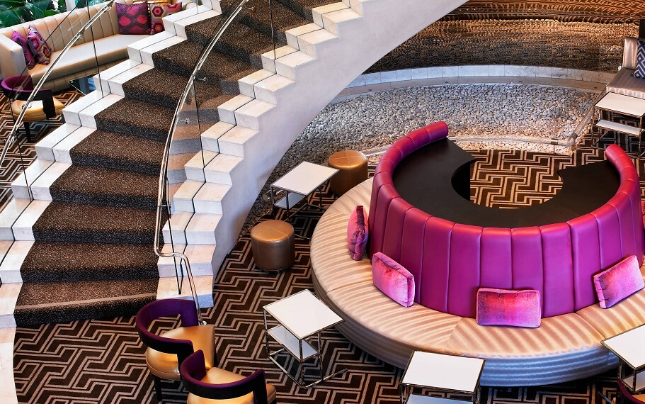W Hollywood Hotel Staircase