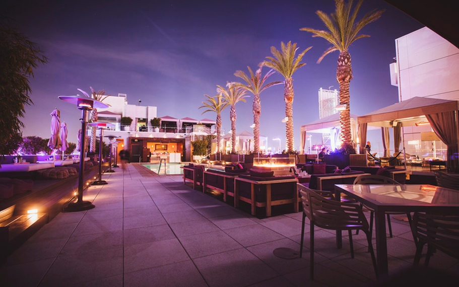W Hollywood Rooftop Firepit Tables