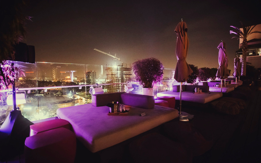 W Hollywood Rooftop Night Bed