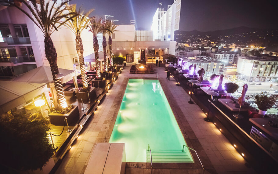 W Hollywood Rooftop Sky Cabana Outlook